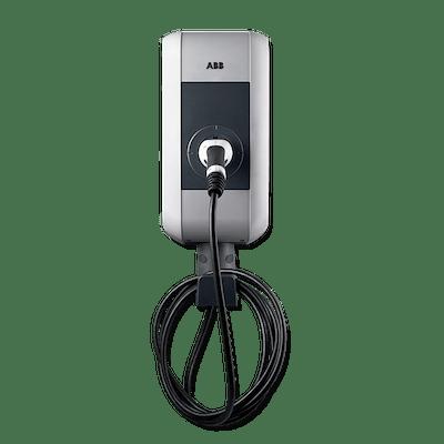 Laddbox till Mercedes EQC ABB Pro S fast kabel ställbar 3,7-22 kW