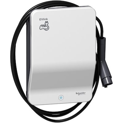 Laddbox till Nissan Leaf E-Plus Schneider Smart fast kabel ställbar 2,3-22 kW